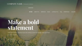 Velux Golf Course and Driving Range  WordPress Theme