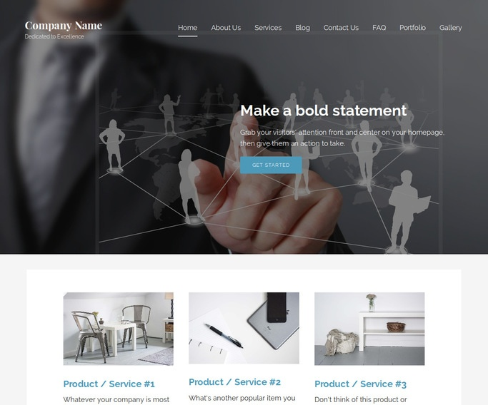 Lyrical Group Home WordPress Theme