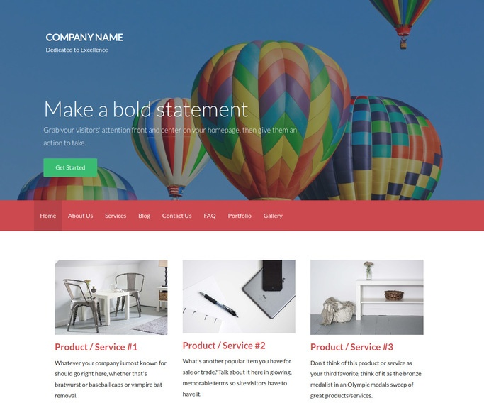 Activation Hot Air Balloons WordPress Theme