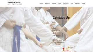 Mins Judo School WordPress Theme