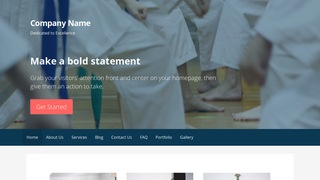 Primer Judo School WordPress Theme