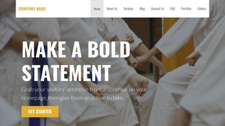Stout Judo School WordPress Theme