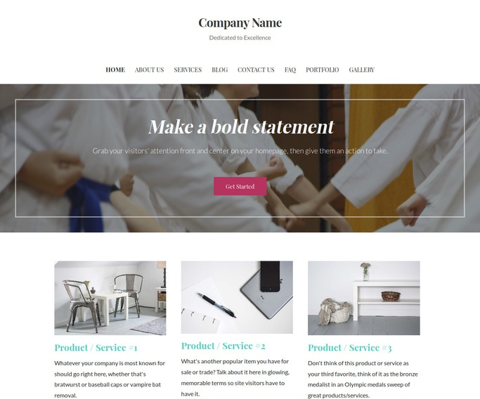 Uptown Style Judo School WordPress Theme