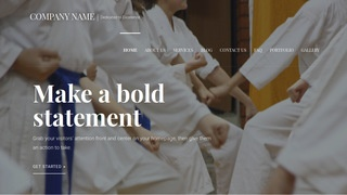Velux Judo School WordPress Theme