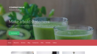 Activation Juice Bar WordPress Theme