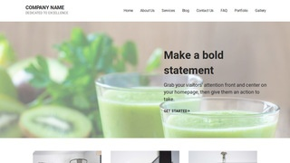 Mins Juice Bar WordPress Theme