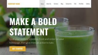 Stout Juice Bar WordPress Theme
