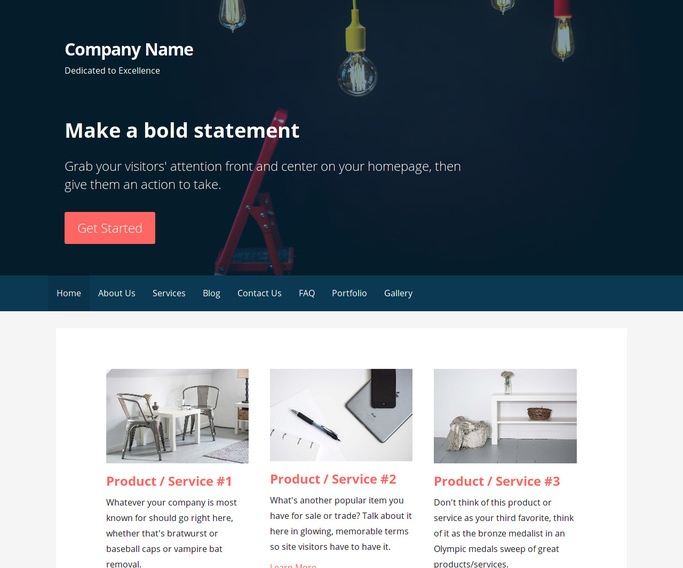 Primer Lamp Repair WordPress Theme