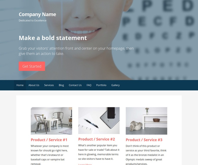 Primer Laser Eye Surgery and Lasik WordPress Theme