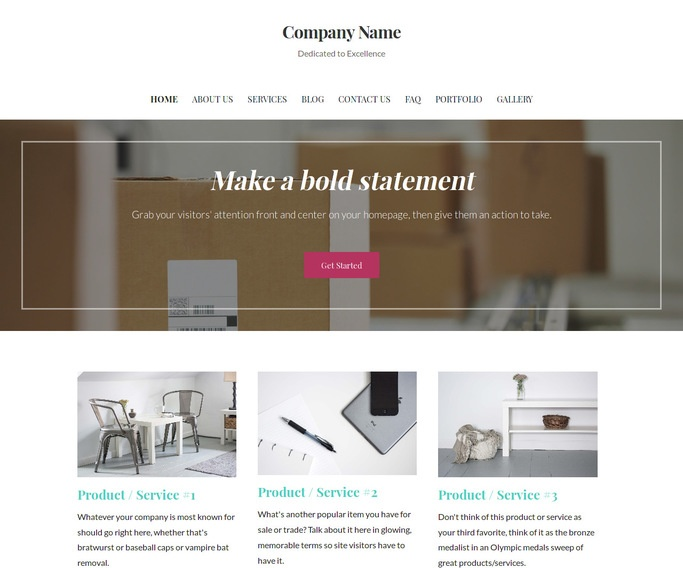 Uptown Style Mailing and Shipping Service WordPress Theme