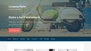 Primer Scooter and Moped Dealer  WordPress Theme