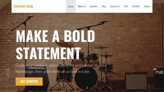 Stout Musical Instrument Rental WordPress Theme