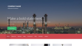 Activation Oil and Gas Field Equipment WordPress Theme