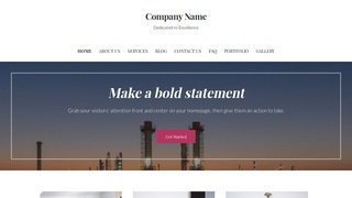 Uptown Style Oil and Gas Field Equipment WordPress Theme