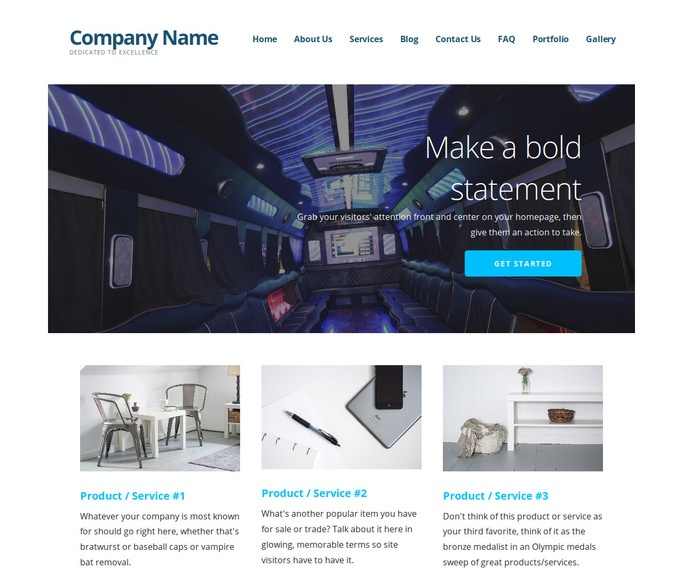 Ascension Party Bus Rentals WordPress Theme