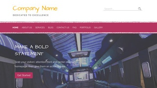 Scribbles Party Bus Rentals WordPress Theme