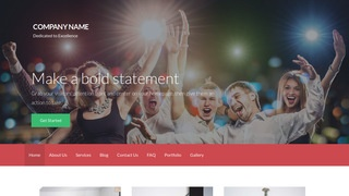 Activation Party Equipment Rentals WordPress Theme