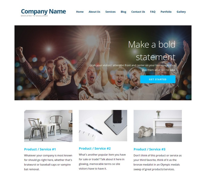 Ascension Party Equipment Rentals WordPress Theme