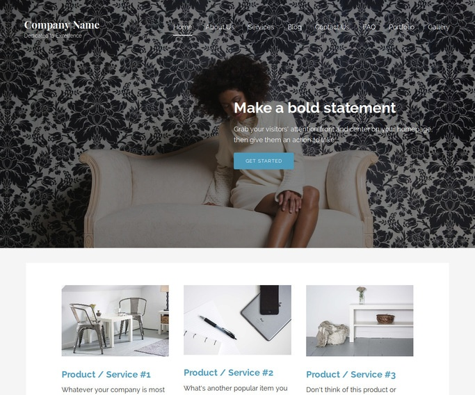Lyrical Personal Website WordPress Theme