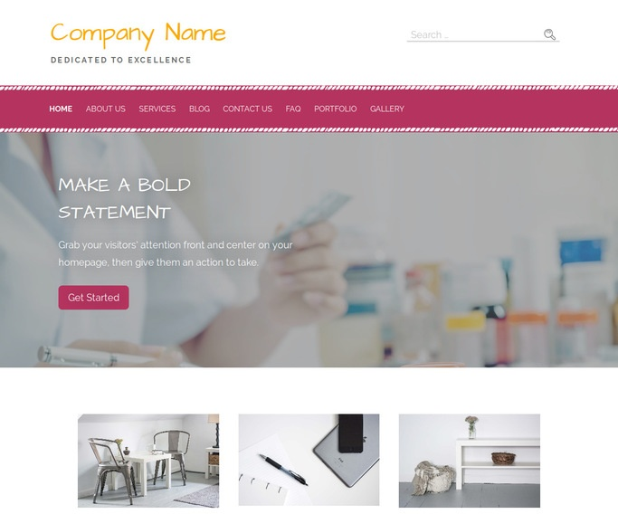 Scribbles Pharmaceutical Company WordPress Theme