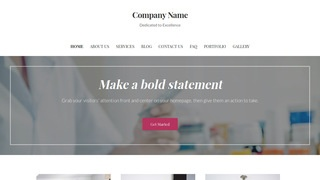 Uptown Style Pharmaceutical Company WordPress Theme