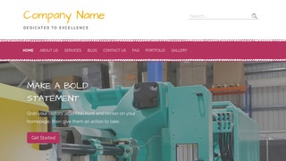 Scribbles Plastic Injection Molding WordPress Theme