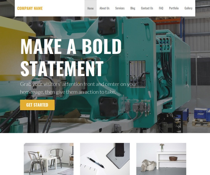 Stout Plastic Injection Molding WordPress Theme