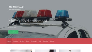 Activation Police Academy WordPress Theme