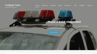 Lyrical Police Academy WordPress Theme