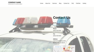 Mins Police Academy WordPress Theme