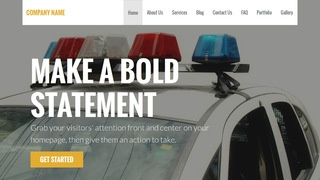 Stout Police Academy WordPress Theme