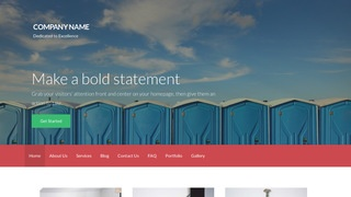 Activation Portable Toilets WordPress Theme
