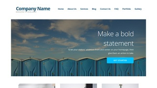 Ascension Portable Toilets WordPress Theme