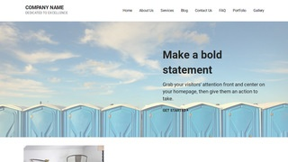 Mins Portable Toilets WordPress Theme