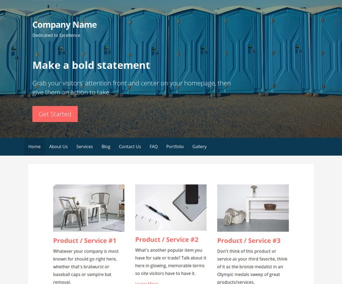 Primer Portable Toilets WordPress Theme