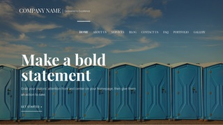 Velux Portable Toilets WordPress Theme