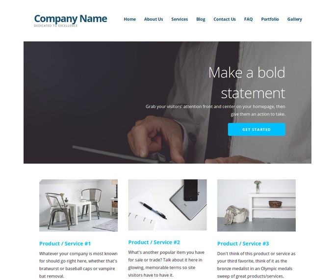 Ascension Promotional Products WordPress Theme