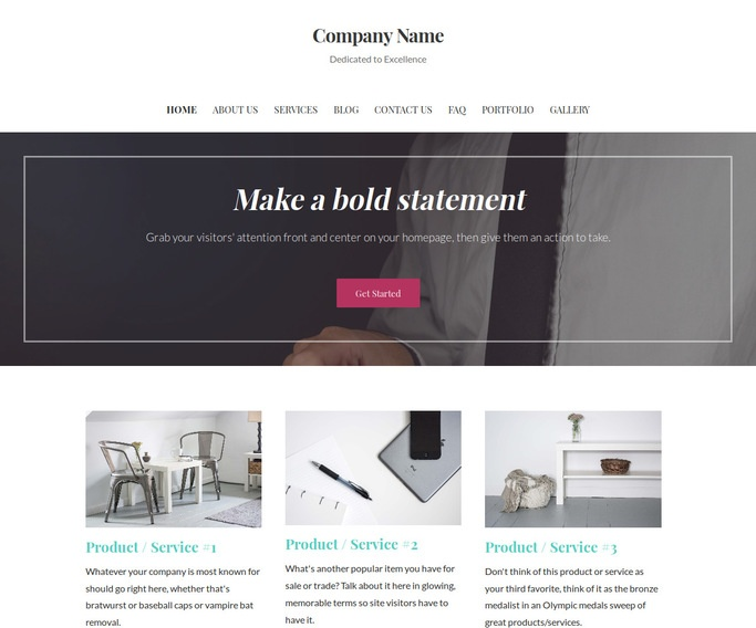 Uptown Style Promotional Products WordPress Theme