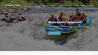 Lyrical Rafting and Kayaking  WordPress Theme
