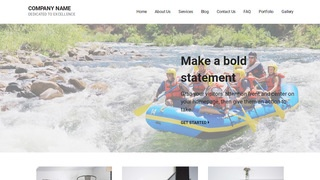Mins Rafting and Kayaking  WordPress Theme