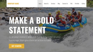 Stout Rafting and Kayaking  WordPress Theme