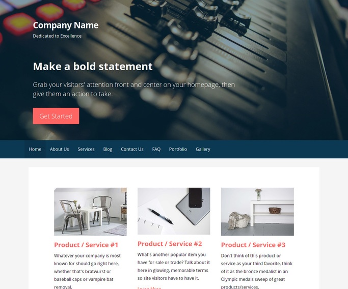 Primer Recording Studio WordPress Theme