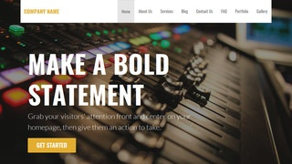 Stout Recording Studio WordPress Theme