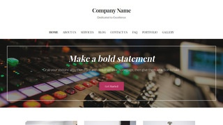 Uptown Style Recording Studio WordPress Theme