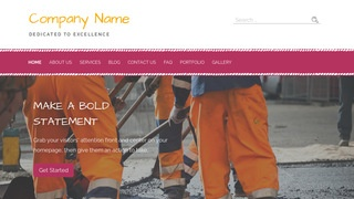 Scribbles Road Construction Company WordPress Theme