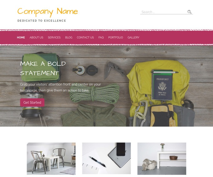 Scribbles Rock Climbing WordPress Theme