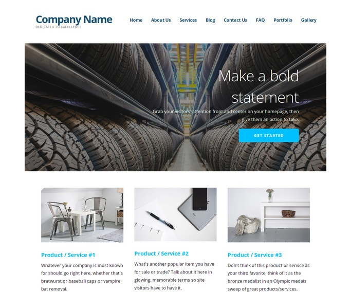 Ascension Rubber Products Supplier WordPress Theme