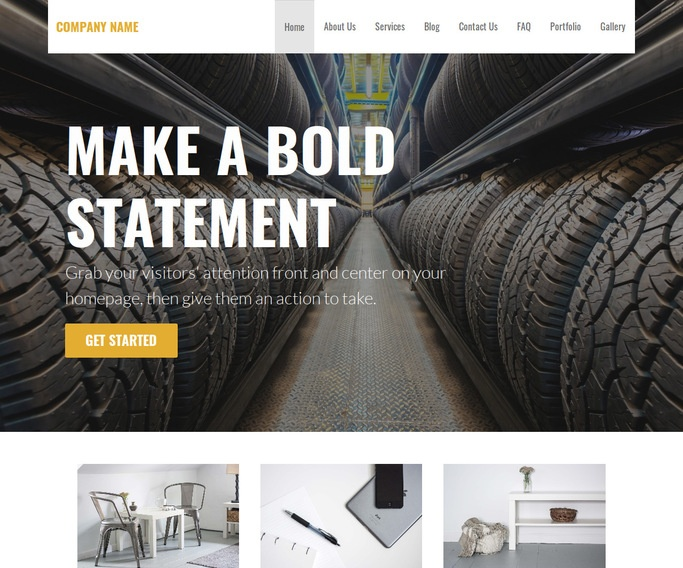 Stout Rubber Products Supplier WordPress Theme
