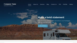 Lyrical RVs and Trailers WordPress Theme