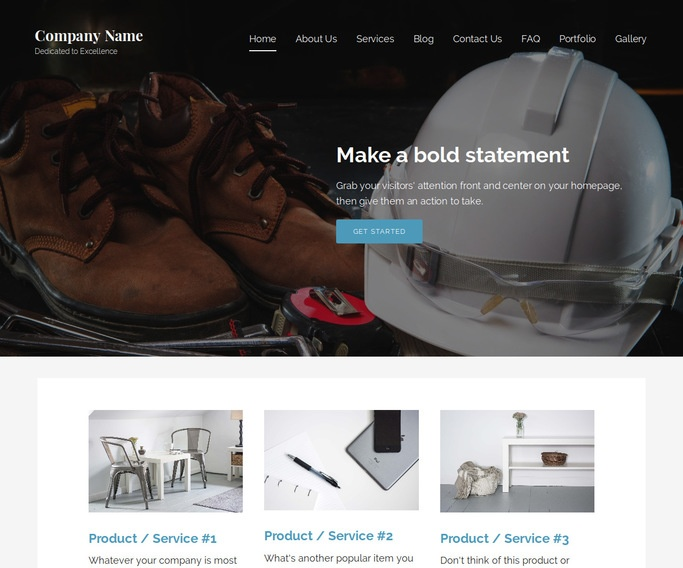 Lyrical Safety Equipment WordPress Theme